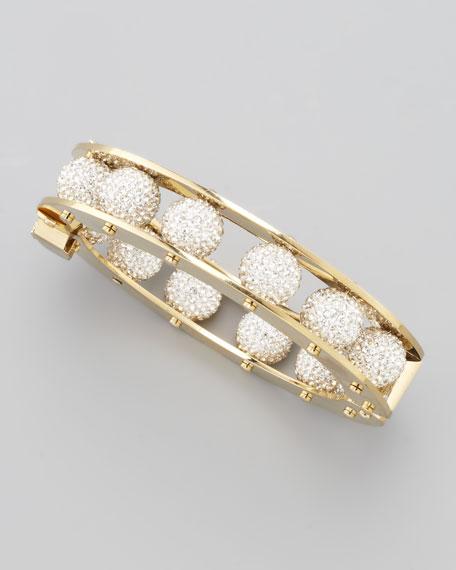 Pave-Bead Slider Bracelet