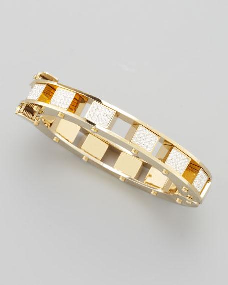 Pave-Cube Slider Bracelet