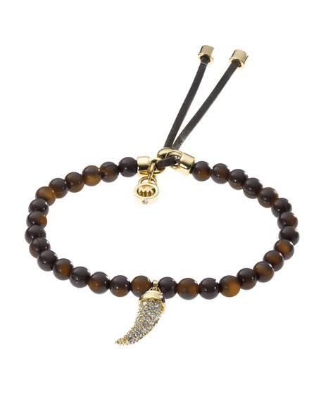 Bead Pave-Horn Bracelet, Tortoise