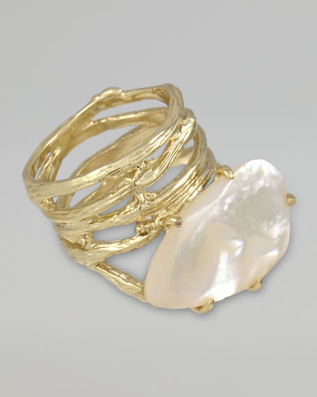 Cora Coil Ring, Mother-of-Pearl
