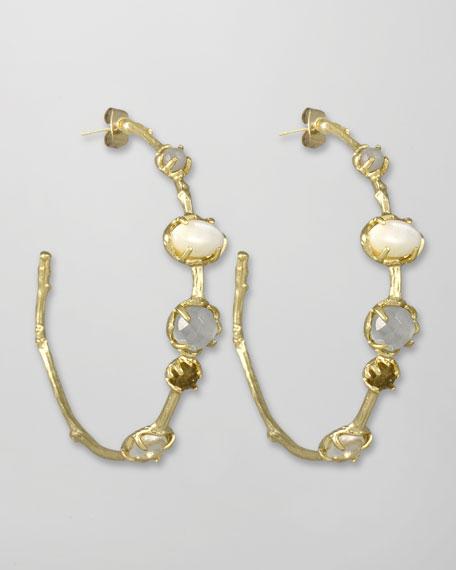 Heather Hoop Earrings, Pearlescent