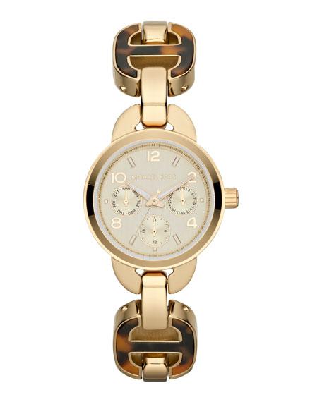 Mini-Size Horn Acetate Chain Bracelet Watch