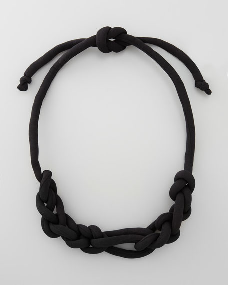 Lightweight Knotted Necklace, Black