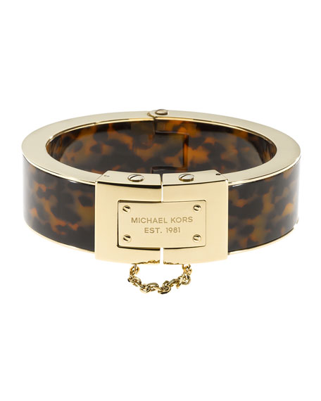 Magnetic Bracelet, Golden/Tortoise