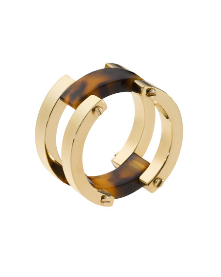 Link Ring, Golden/Tortoise