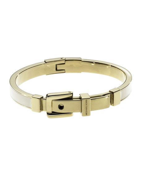 Buckle Enamel Bracelet, White