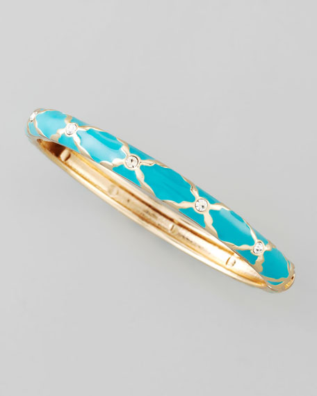 Skinny X Bangle, Turquoise