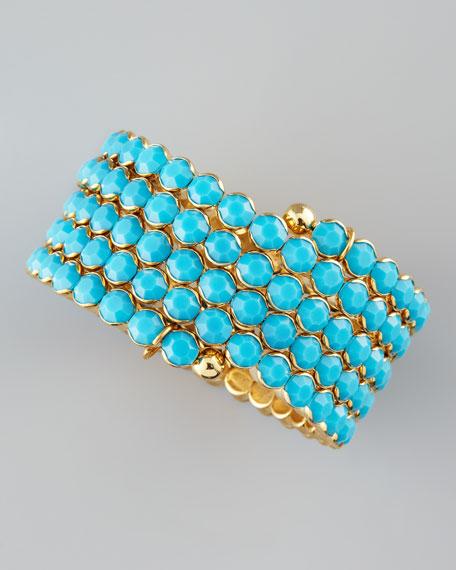 Crystal Spiral Bracelet, Turquoise
