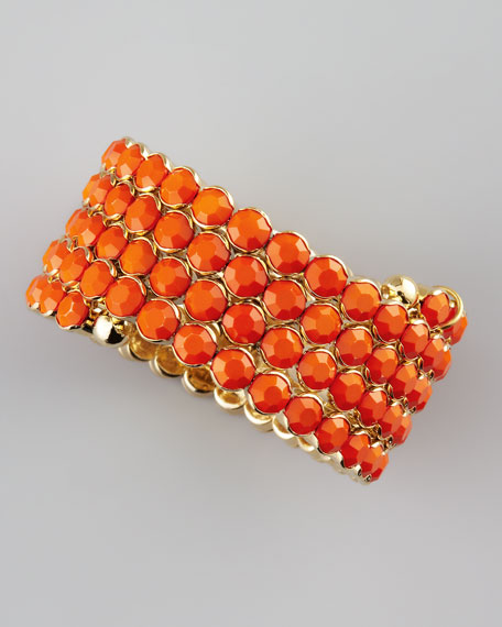 Crystal Spiral Bracelet, Orange