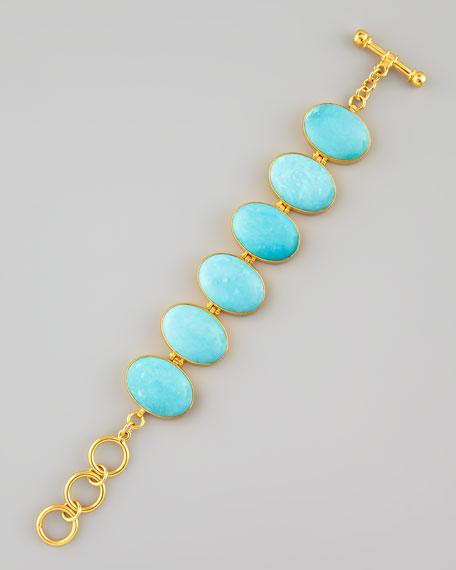 Turquoise Hinged Bracelet
