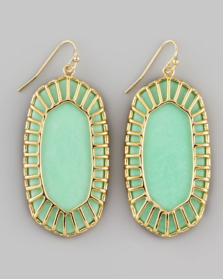 Dayla Small Drop Earrings, Seafoam