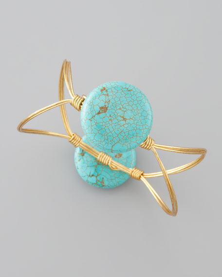 Elliptical Bangle, Turquoise