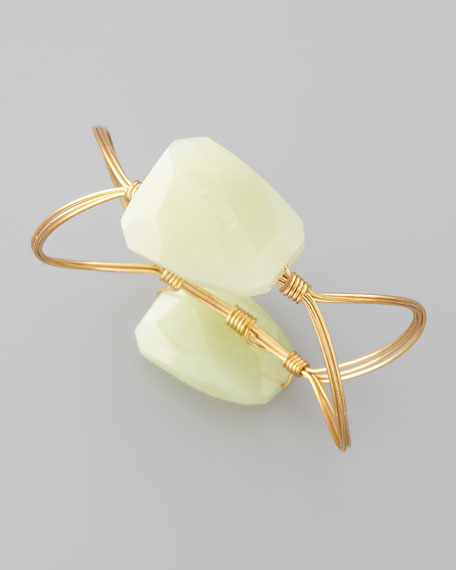 Elliptical Bangle, New Jade