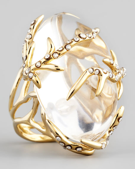 Ophelia Vine Ring, Clear