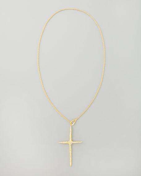 New Wave Cross Pendant Necklace