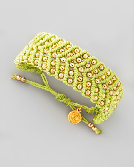 Beaded Friendship Bracelet, Lime