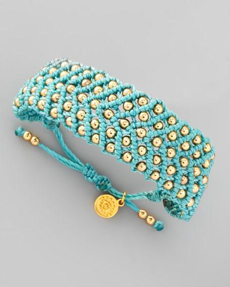 Beaded Friendship Bracelet, Aqua