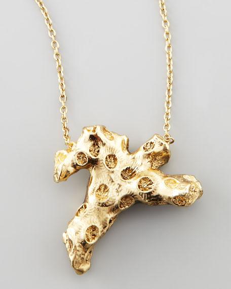 Coral-Branch Pendant Necklace