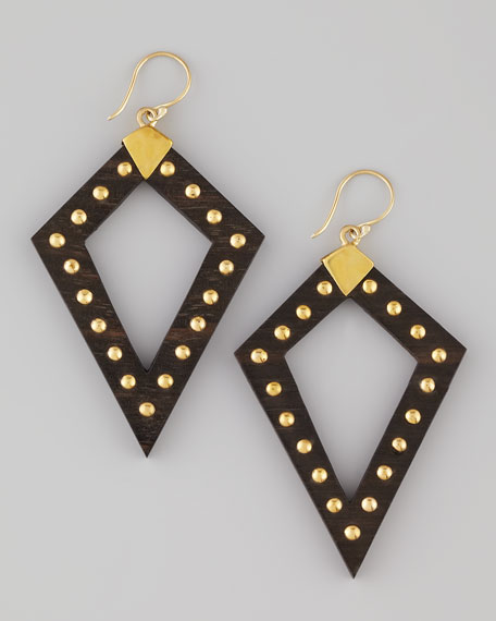 Studded Arrowhead Earrings