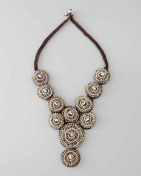 Beaded Circle Bib Necklace