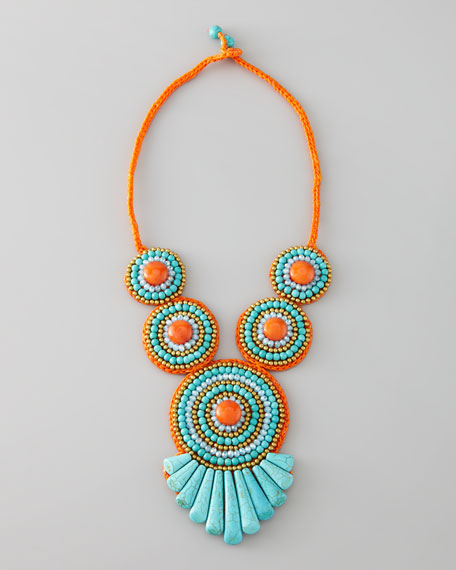 Tribal Rope Bib Necklace