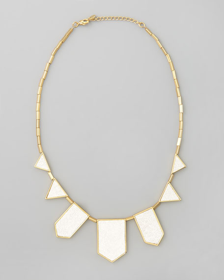 Five Station Necklace, White Sand
