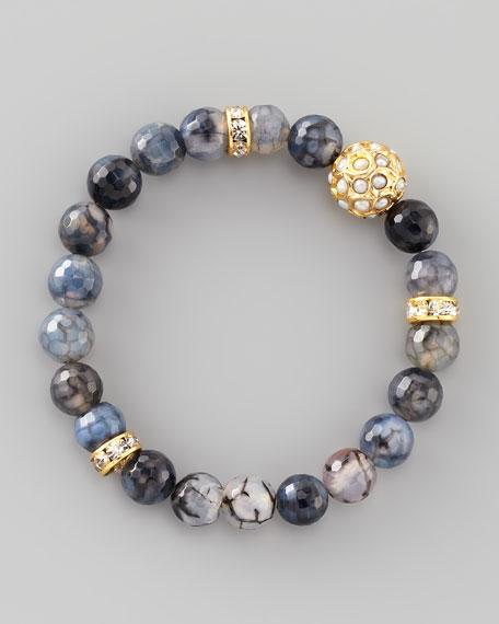Dhol Jaali Beaded Bracelet, Black