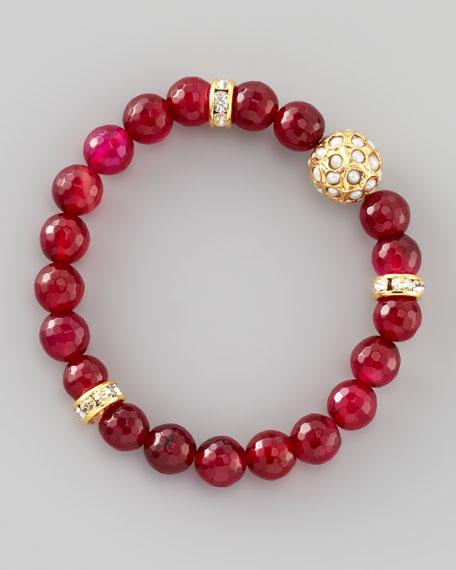 Dhol Jaali Beaded Bracelet, Pink