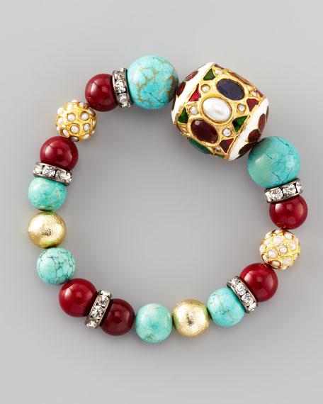 Multi-Stone Beaded Bracelet