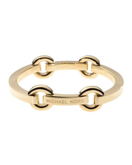 Thin Bit-Link Bracelet, Golden