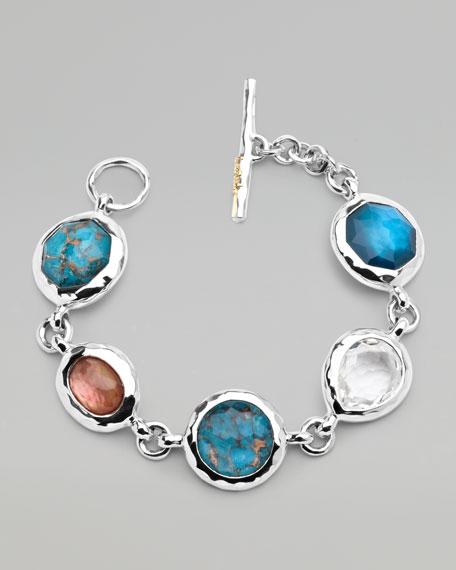 Wonderland Multi-Stone Toggle Bracelet