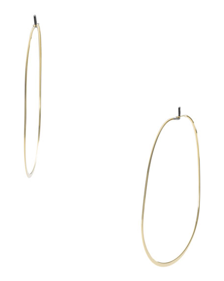 Whisper Oval Earrings, Golden