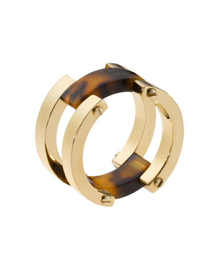 Tortoise Flex Ring, Golden