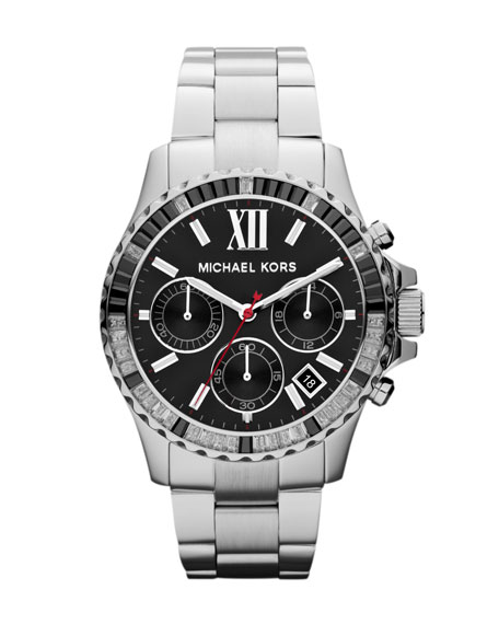 Mid-Size Silver Color Stainless Steel Everest Chronograph Watch