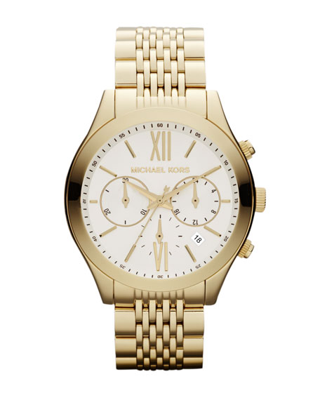 Mid-Size Golden Stainless Steel Brookton Watch