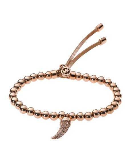 Beaded Pave-Horn Bracelet,