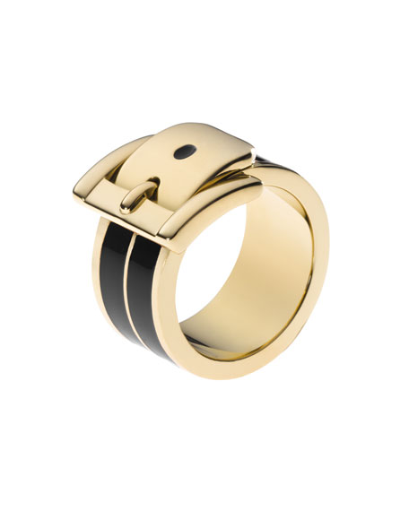 Buckle Ring, Golden/Black