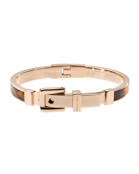Tortoise Buckle Bangle, Rose Golden