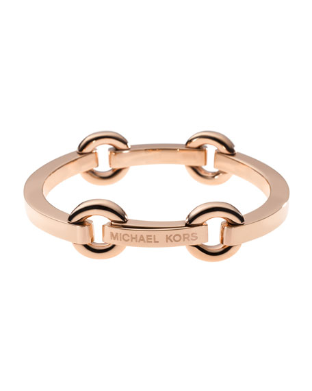 Thin Bit-Link Bracelet, Rose Golden