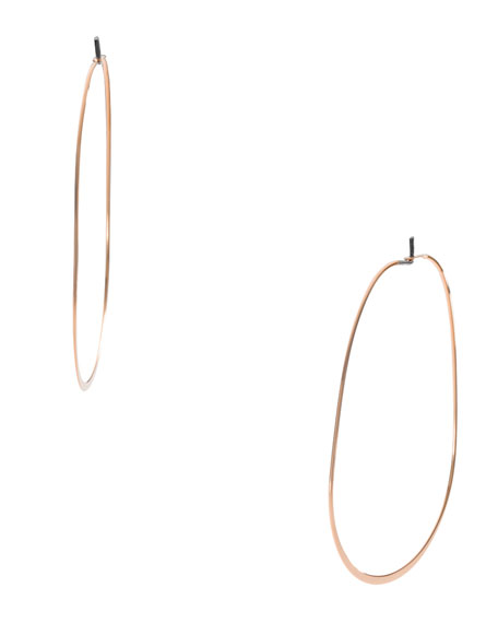 Whisper Oval Earrings, Rose Golden