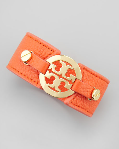 Logo Double-Snap Cuff, Orange