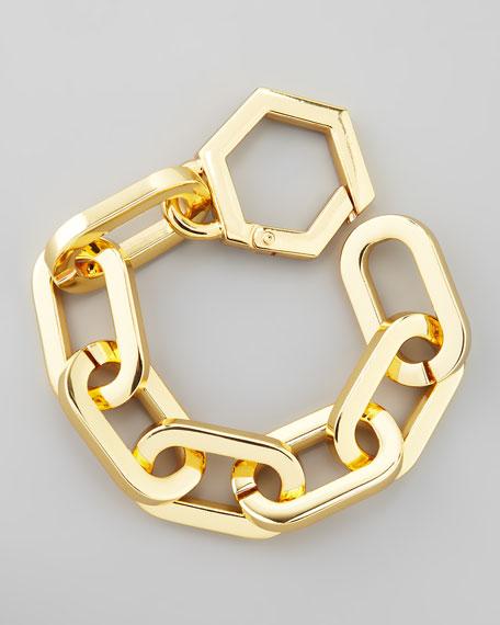 Heidi Gold Plate Chain Bracelet