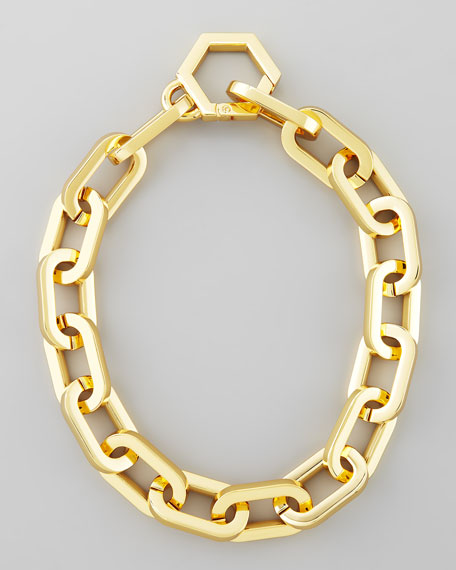 Heidi Gold Plate Chain Necklace