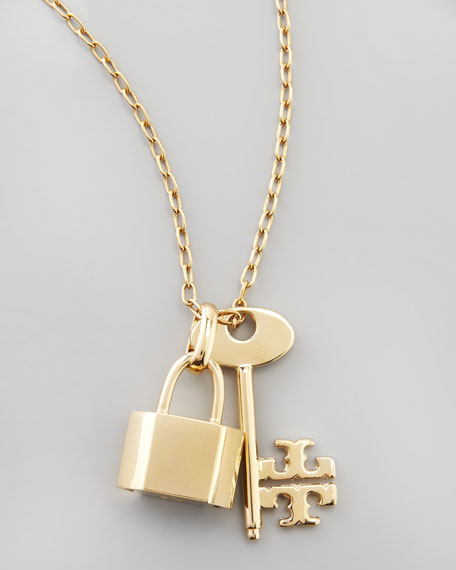 Riley Lock & Key Pendant Necklace