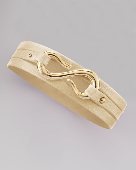 Sadie Triple-Wrap Bracelet, Bone