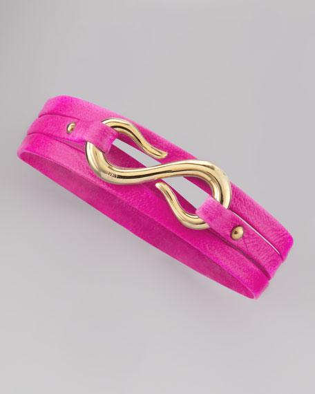 Sadie Triple-Wrap Bracelet, Neon Pink