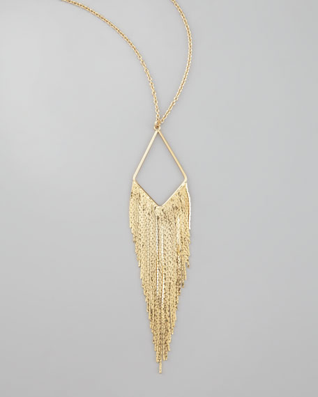 Coachella Chain-Fringe Necklace