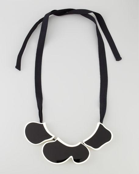 Enamel Bib Ribbon Necklace