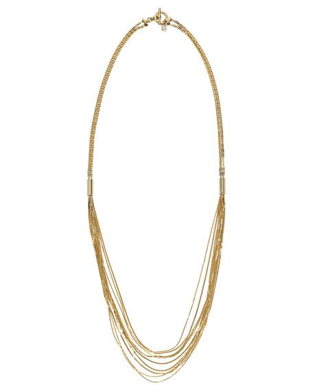 Multi-Chain Necklace, Golden