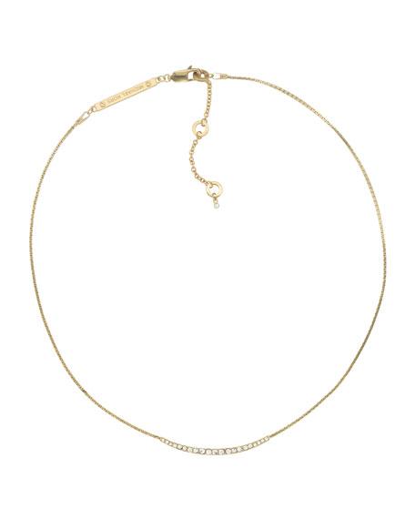 Pave Bar Necklace, Golden